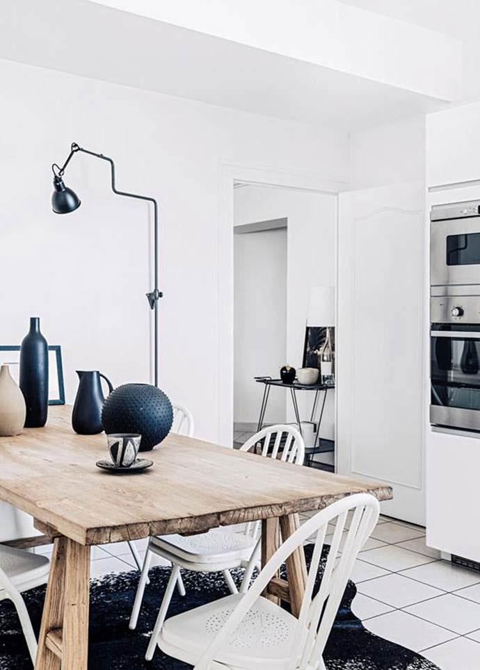 desain dapur minimalis biru