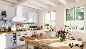 dapur vintage putih