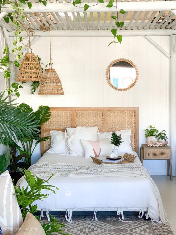 dekorasi anyaman kamar tidur