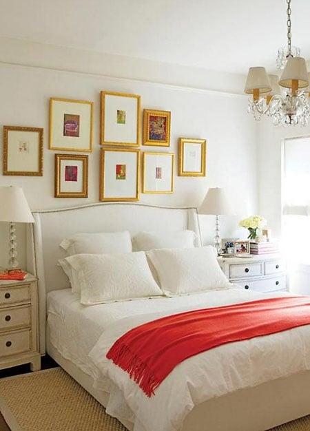 dekorasi kamar tidur warna emas