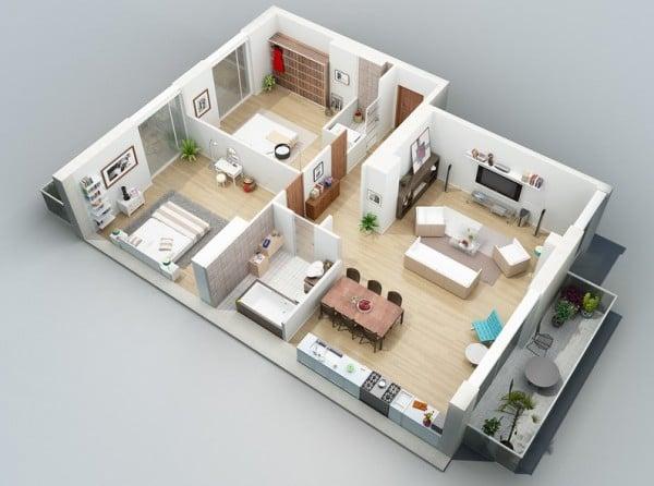 denah apartemen