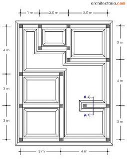 10 denah pondasi rumah minimalis berbagai tipe | 1 dan 2