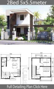 8 denah rumah 2 lantai mungil untuk hunian keluarga baru