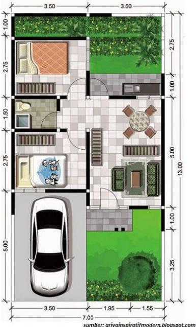 7 Inspirasi Denah Rumah 8x12 Yang Bisa Kamu Aplikasikan Di Rumah