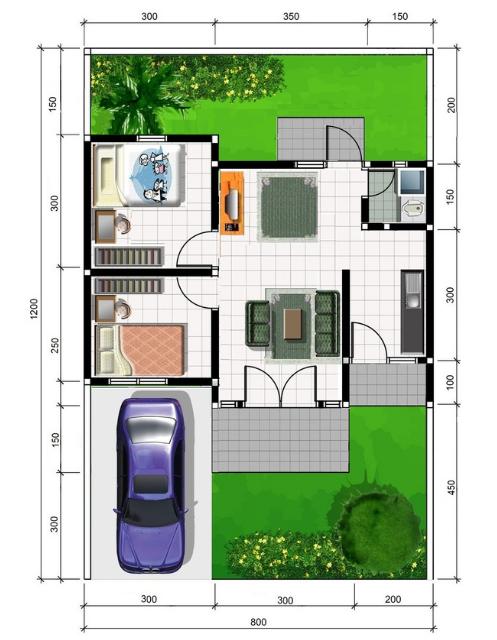 7 Inspirasi Denah Rumah 8x12 Yang Bisa Kamu Aplikasikan Di Rumah!