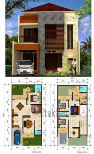 inspirasi denah rumah 2 lantai type 36 dan panduan