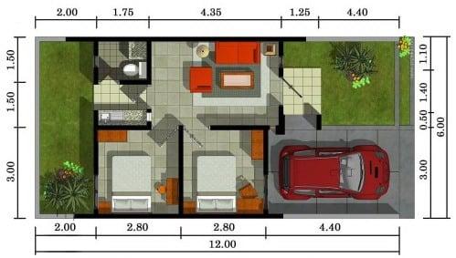 5 Denah Ukuran Rumah Minimalis Type 36 Terbaik Untuk Keluarga Baru