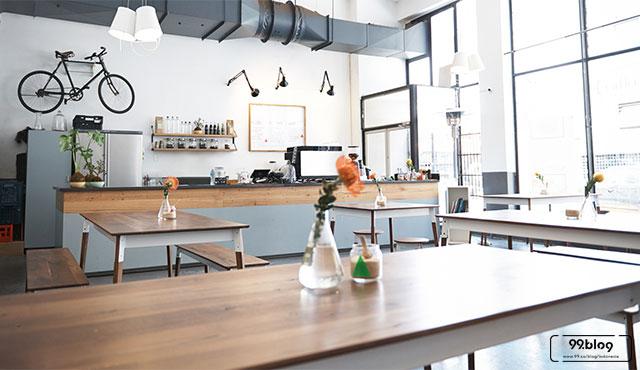 Hasil gambar untuk Desain Ala Cafe Modern dan Hangat