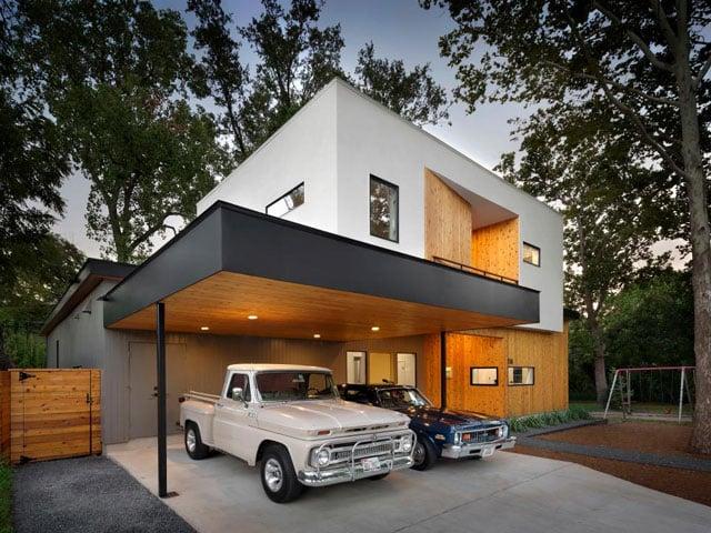 desain carport minimalis modern