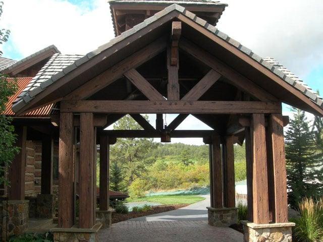 model carport rustic