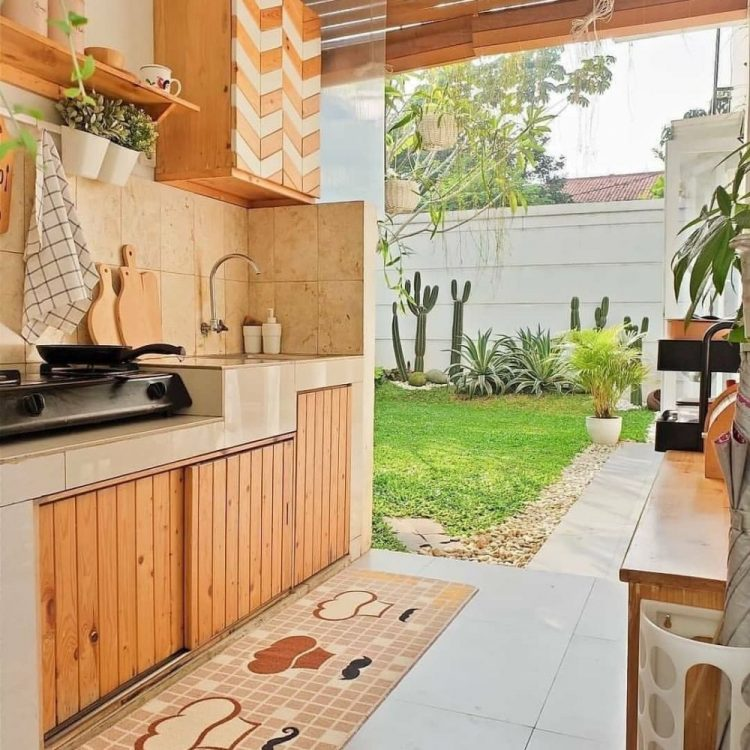 dapur alami dan terbuka