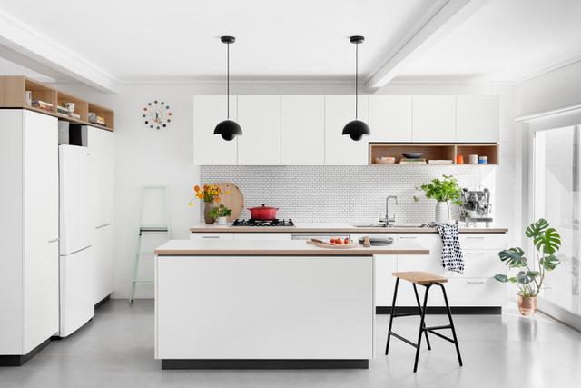 desain dapur minimalis 3x3 putih