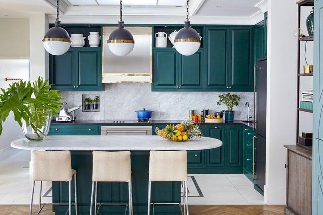 desain dapur minimalis hijau