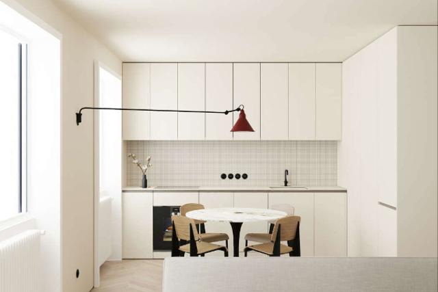 desain dapur minimalis putih