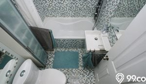 desain kamar mandi sederhana dengan bak mandi