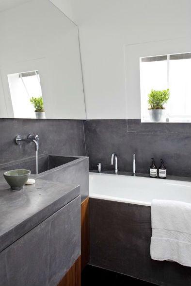 desain kamar mandi semen