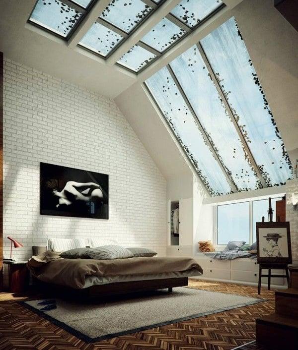 desain kamar tidur atap rumah