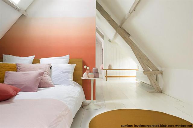 desain kamar tidur minimalis di loteng