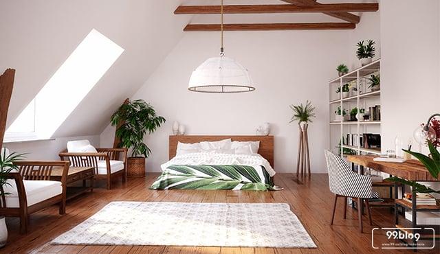 Desain Kamar Tidur Minimalis Di Loteng Modern Anti Panas
