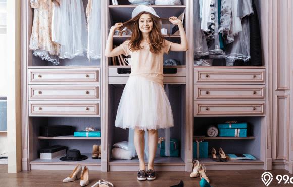 desain lemari pakaian keren