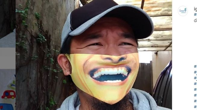 desain masker publik figur