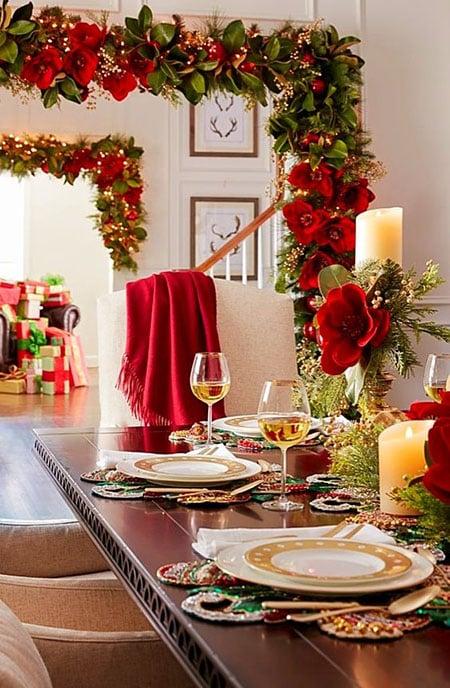 desain meja makan romantis