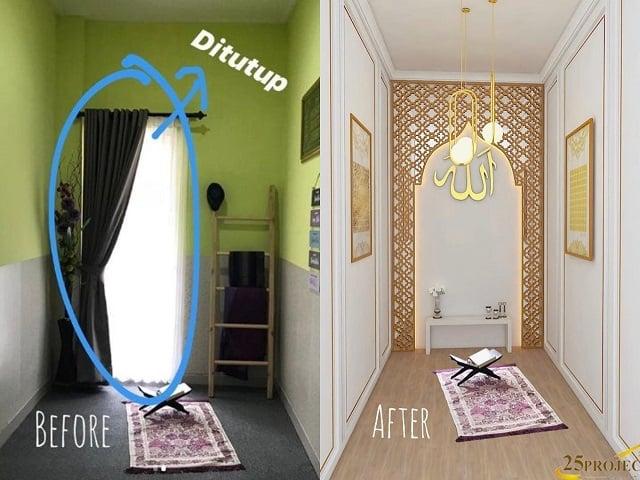 desain mushola lorong