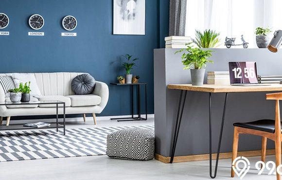 desain ruang keluarga industrial