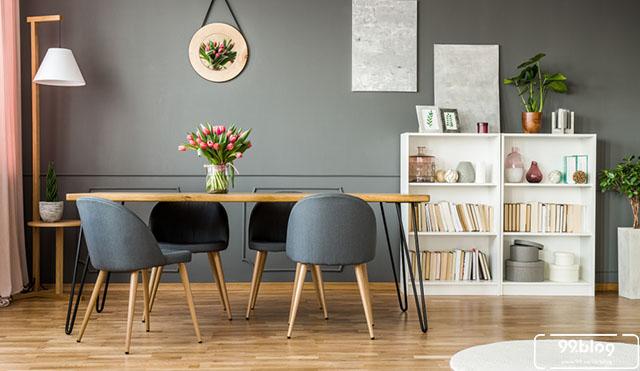 Design Dapur Menyatu Dengan Taman  11 desain ruang makan mungil yang hangat untuk keluarga