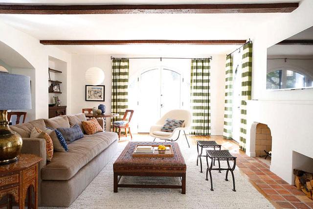 Desain Ruang Tamu Minimalis ala Maroko