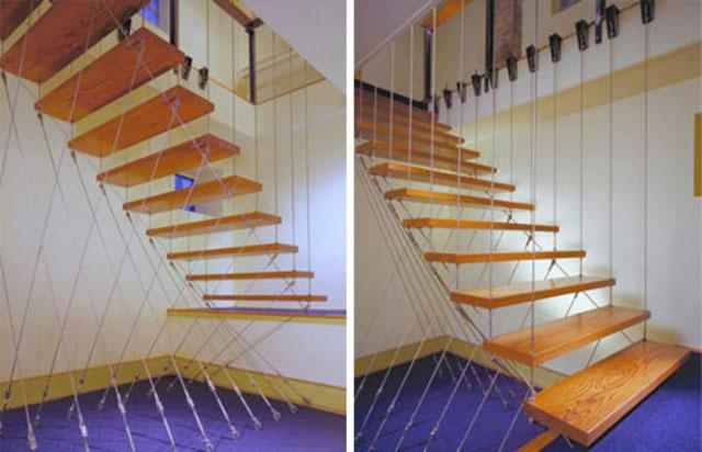 desain tangga gantung rumah sempit