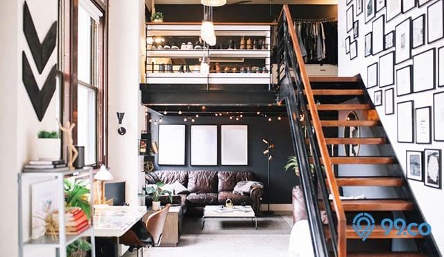 7 Inspirasi Desain Tangga Rumah Sempit Terbaik 2020