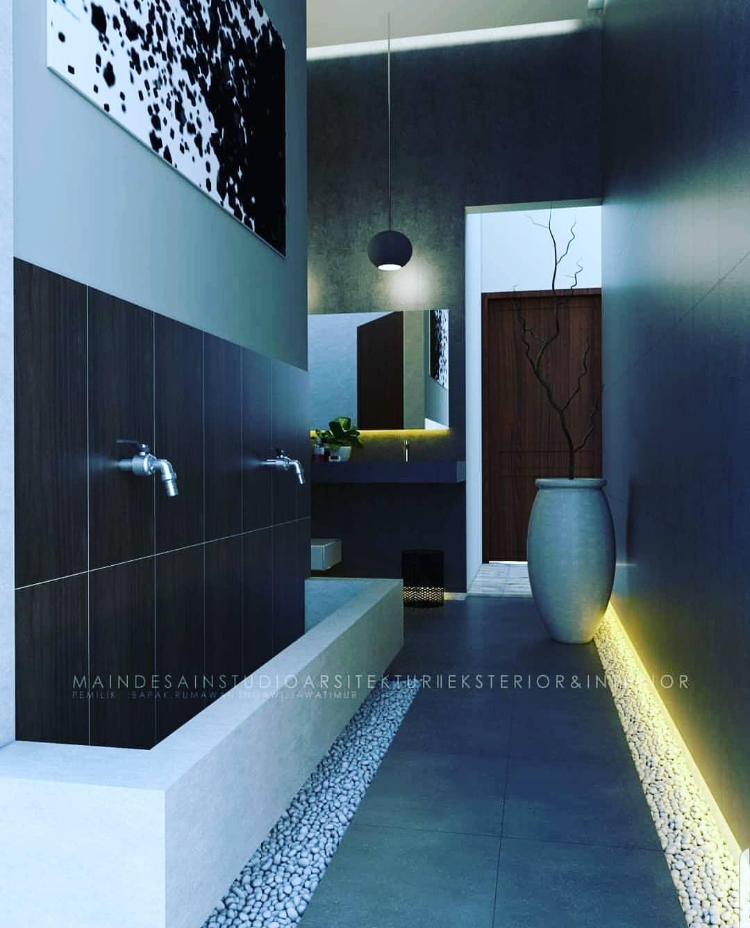 6 Ide Inspiratif Desain Tempat Wudhu Minimalis Di Rumah Gambar tempat wudhu masjid minimalis