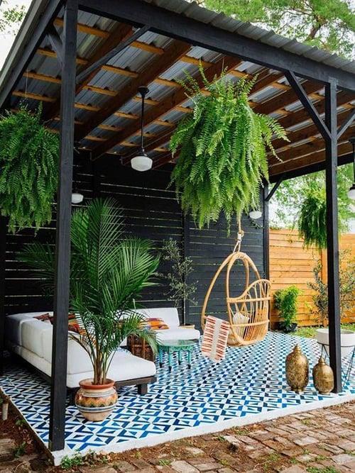desain teras rumah modern