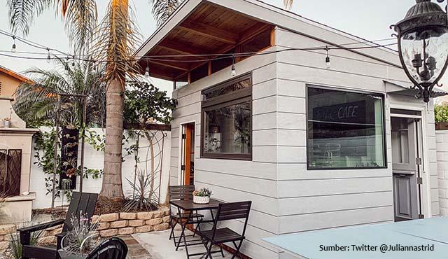 Kreatif Banget! Seorang Ayah Desain Warung Kopi dan Membangunnya di Belakang Rumah