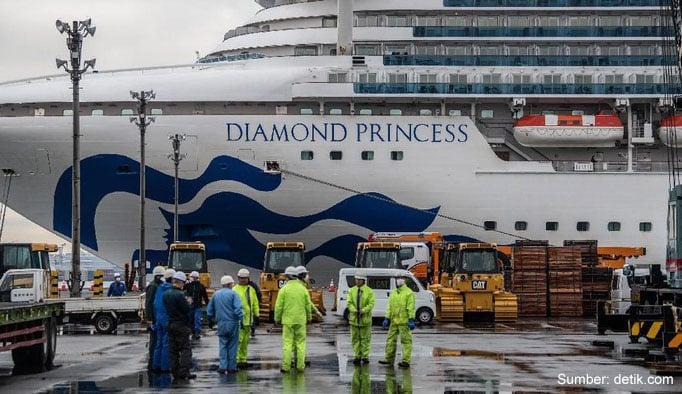 4 WNI Kru Diamond Princess Positif Corona, Total Korban Jadi 621 Orang!