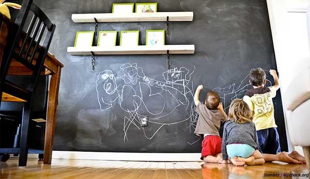 Cara Membuat Dinding Papan Tulis di Rumah | Dilengkapi Ide Desain
