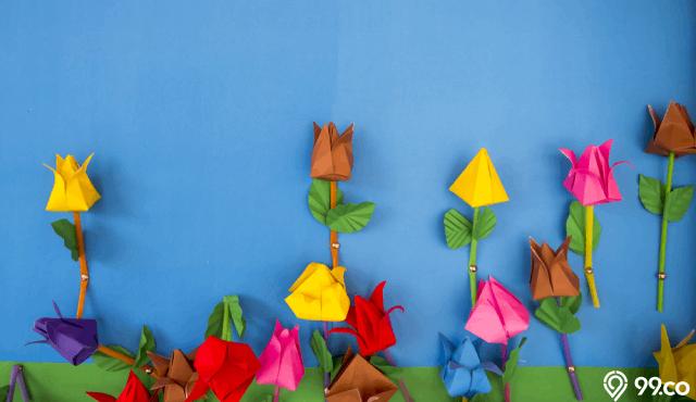 5 Cara Membuat Bunga Dari Kertas Mudah Bisa Dipraktikkan Di Rumah