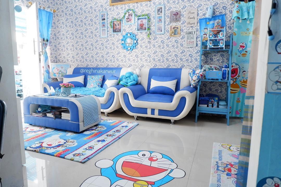 ruang tamu rumah doraemon