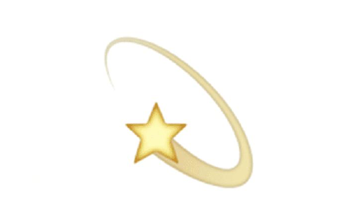 emoji bintang jatuh