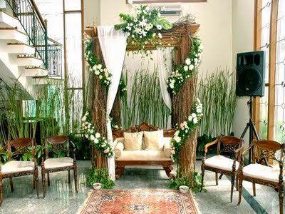 dekorasi pelaminan natural