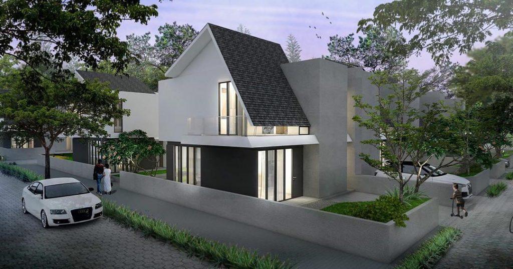 fasad rumah minimalis dak beton dan atap pelana
