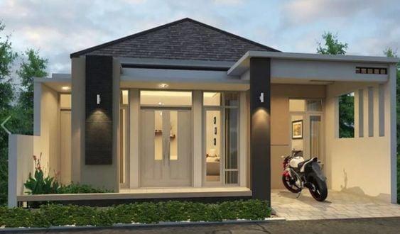fasad rumah minimalis dengan garasi