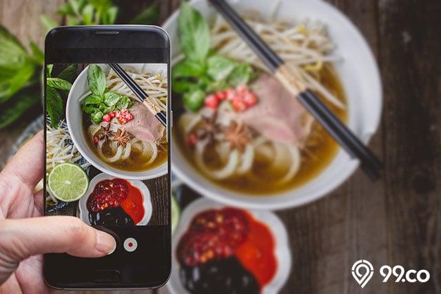 foto makanan menggunakan hp