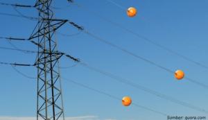 fungsi bola kabel listrik sutet