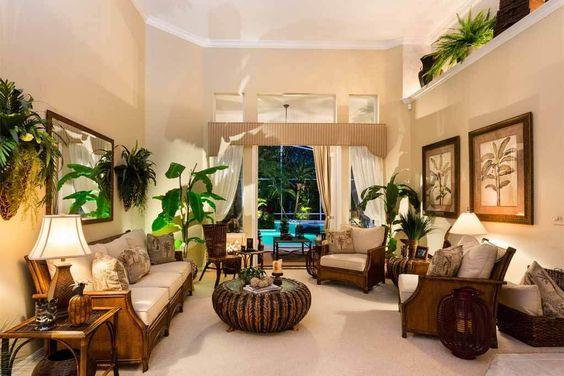 material dan furnitur ala rumah tropis
