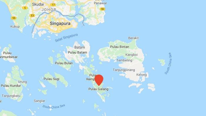 peta pulau galang