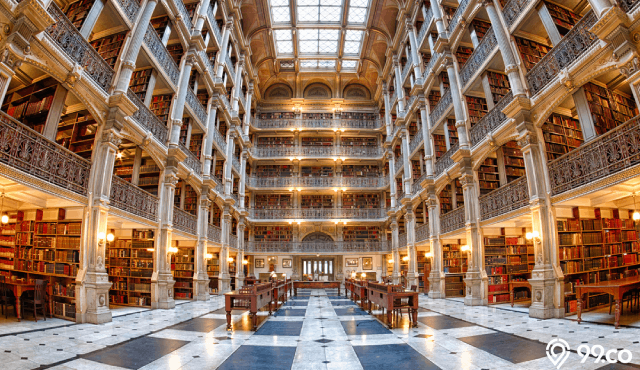 gambar perpustakaan george peabody