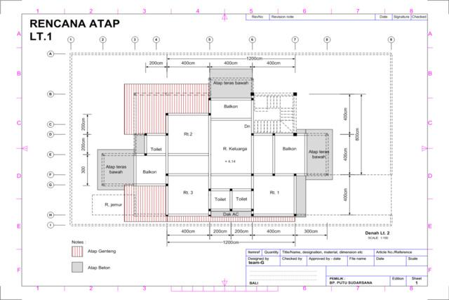 gambar rencana atap