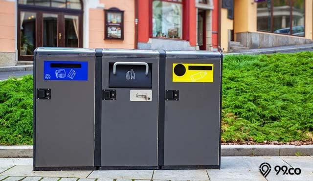 gambar tempat sampah modern